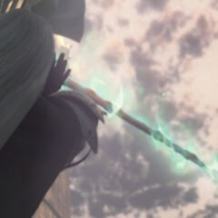 The Masamune is materialized in <i>Advent Children</i>.