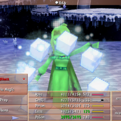 Rosa casting White Magic in <i>Final Fantasy IV: The After Year</i> (iOS/Android).