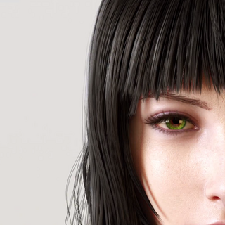 Close-up of Gentiana from the trailer.