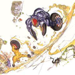 Yoshitaka Amano artwork of Magna Roaders.