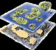 FFLIII World Map Artwork