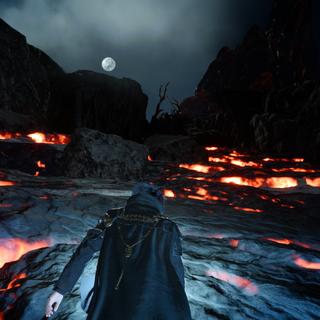 Path of lava.