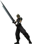 Cloud Dissidia CG render