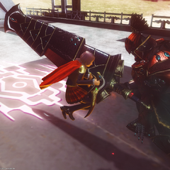 Gilgamesh's brand appears on the ground when he attacks.