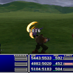 Barret using Slash-All without a Gun-Arm.