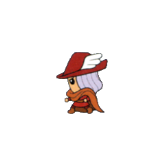 Red Mage from the V-Jump strategy guide for <i>Final Fantasy</i> (WonderSwan).