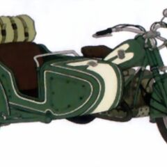 Artwork of Zack's escape motorcycle in <i>Crisis Core</i>.