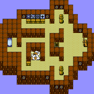 The interior of the <i>Invincible</i> (NES).
