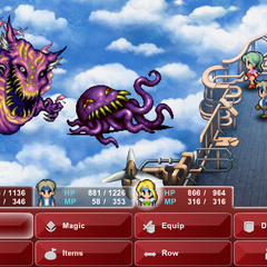 Typhon and Ultros's battle the party (iOS/Android/PC).