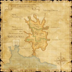 The map of East Sarutabaruta.