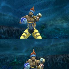 Wakka's victory pose (Underwater).