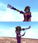 Yuna Lady Luck Victory Pose