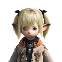 Female Lalafell CG bust. Note that this design is the basis for the