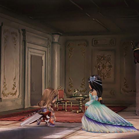 Beatrix kneels in front of Garnet.