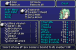 FFVI GBA Equipment Menu