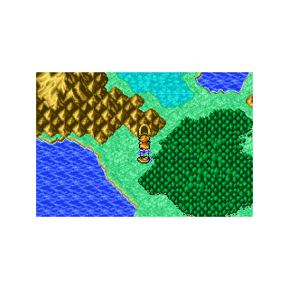 Earthgift Shrine on the World Map (GBA).