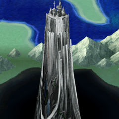 The Tower of Babil on the overworld word map (iOS).