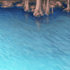 Battle background on water (PSP).