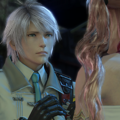 Hope meeting Serah after defeating <a href=