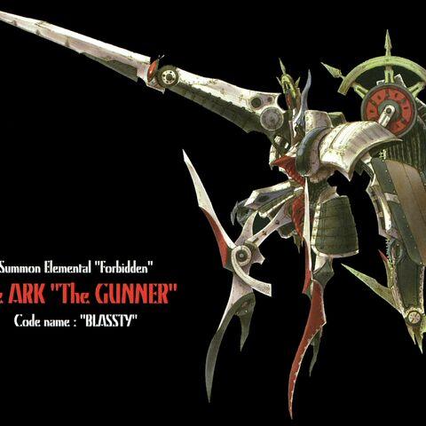 Concept artwork of Ark's mecha form.