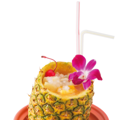 Tropical non-alcoholic cocktail of good King Moggle Mog XII