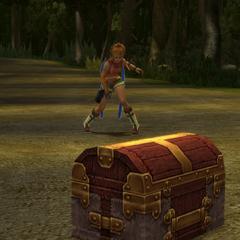 Treasure chest in battle.
