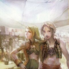 Artwork of Penelo with Vaan by Isamu Kamikokuryo.