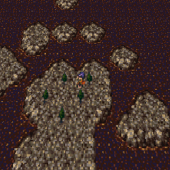 Mobliz on the World Map of the World of Ruin (SNES).