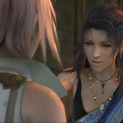 Fang checks Lightning's brand.