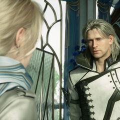 Ravus speaks with Lunafreya.