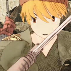 Male Thief in a cutscene from <i>War of the Lions</i>.