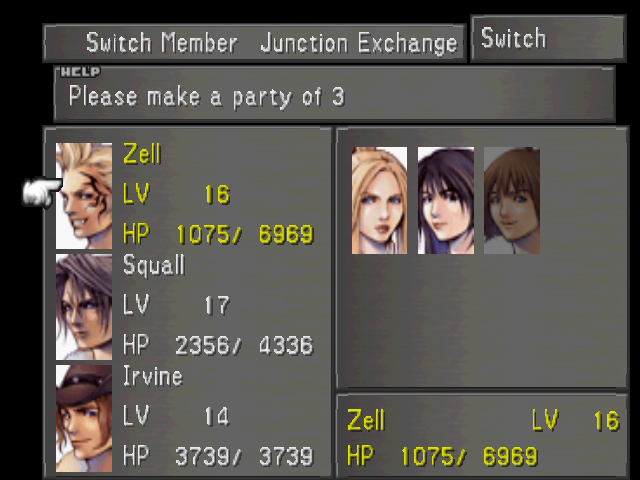 File:FFVIII Party Select Screen.png
