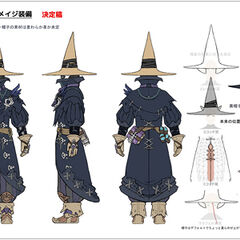 Black Mage Relic Equipment concept art.