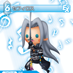Trading card of Sephiroth's <i>Theatrhythm Final Fantasy</i> appearance.