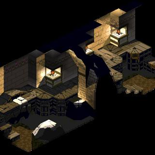 An underground passageway beneath Gollund, as shown in a cutscene.