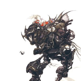 Magitek Armor by Yoshitaka Amano.