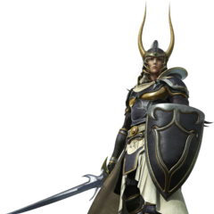 CG render for <i>Dissidia</i>.