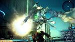Trey fighting mech Final Fantasy Type 0