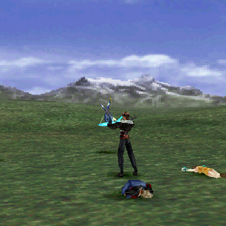 Squall defending.
