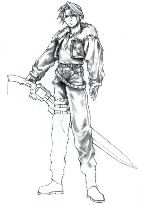 Final Fantasy Viii Squall Final Fantasy Viii Concept