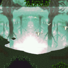The Phantom Forest in the ending (iOS/Android/PC).