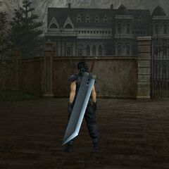 Mansion gate in <i>Crisis Core -Final Fantasy VII</i>.