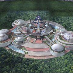 Concept art of Balamb Garden.