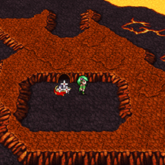 Sealed Cave on the world map (PSP).