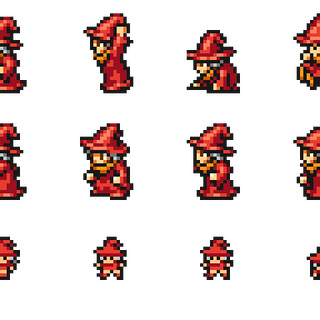 Set of Matoya's sprites.