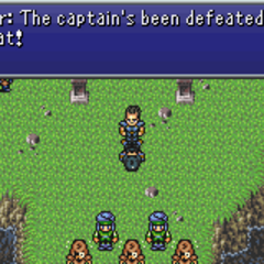 Imperial forces retreating after their commander is slain (GBA).