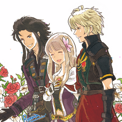 Artwork of Lasswell, Fina and Rain designed by <a href=