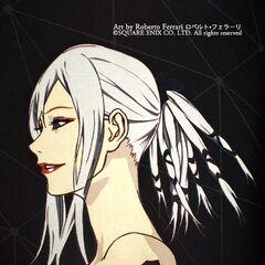 Concept artwork of Aranea's head and shoulders.