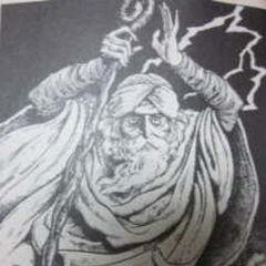 An elderly Minwu as depicted in the gamebook.