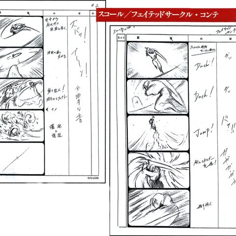 Fated Circle storyboard.